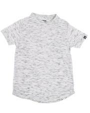 Tops - Melange Scoop Bottom T-Shirt (8-18)-2485723