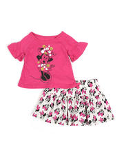 Sizes 2T-4T - Toddler - 2 Pc Minnie Tee & Skirt Set (2T-4T)-2482464