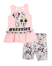 Sizes 2T-4T - Toddler - 2 Pc Minnie and Friends Tank & Short Set (2T-4T)-2482526