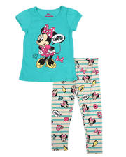 Sizes 2T-4T - Toddler - 2 Pc Minnie Sweet Tee & Print Leggings Set (2T-4T)-2484620