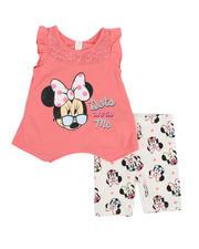 Girls - 2 Pc Minnie Dot Tank & Printed Bike Shorts Set (2T-4T)-2484632