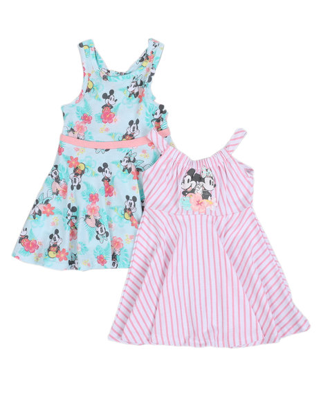 Disney - Minnie & Mickey 2 Pc Dress Set (2T-4T)