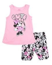 La Galleria - 2 Pc Minnie Cute Tank & Printed Bike Shorts Set (2T-4T)-2484648