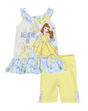 Sizes 2T-4T - Toddler - 2 Pc Belle Believe In You Tank & Bike Shorts Set (2T-4T)-2484815