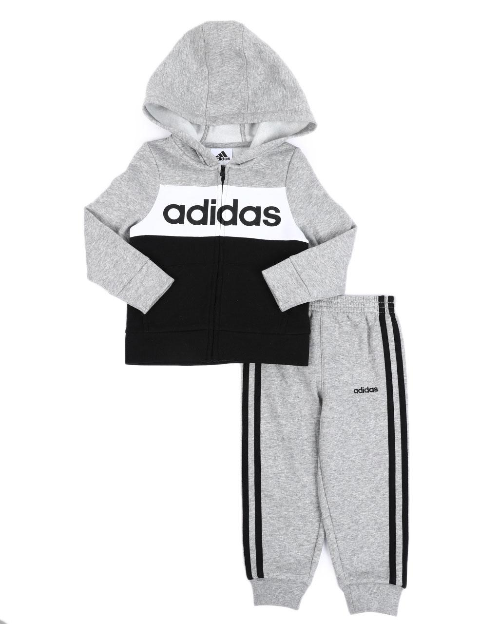Adidas Boys 2-Piece Hooded Fleece Track Jacket /& Pants Set # 4T