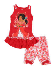 Disney - 2 Pc Elena Empowered To Rule Tank & Printed Bike Shorts Set (2T-4T)-2484676