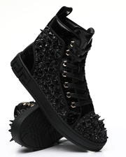 AURELIO GARCIA - Spiked Metallic High Top Sneakers-2486735
