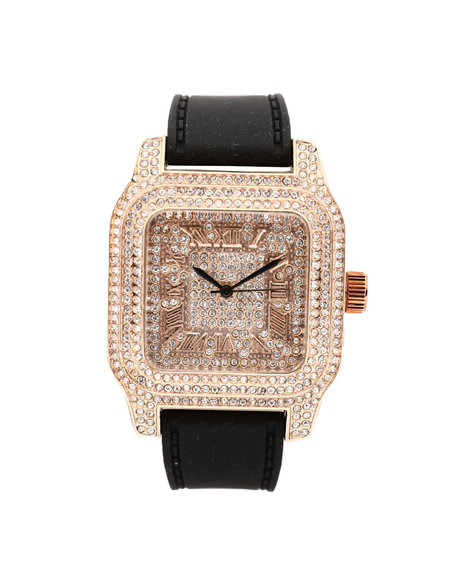 Buyers Picks - Fully Iced Out Square Dial Watch