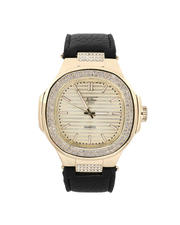 Buyers Picks - 50MM Oblong Shaped Leather Band Watch-2487138