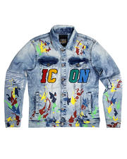 Copper Rivet - Icon Paint Splatter Denim Jacket-2487184