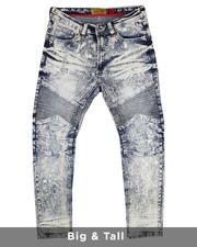Big & Tall - Biker Jeans With Bleach Spotting (B&T)-2481858