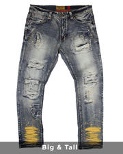 Makobi - Shredded Jeans With Paint Splatter (B&T)-2482053