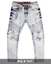 Makobi - Biker Jeans With Bleach Spotting (B&T)-2482068