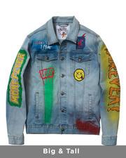 Big & Tall - Sporty Denim Jacket (B&T)-2487899