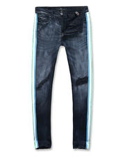 Mens-Holiday - Side Stripe distressed stretch jean-2486211
