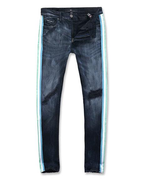 Jordan Craig - Side Stripe distressed stretch jean
