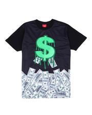 T-Shirts - Chenille Dollar Sign Tee-2486512