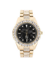 Jewelry & Watches - Marble Dial Watch X Iced Out Band-2487071