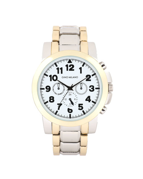 Buyers Picks - 45MM 3-Eye Metal Band Watch