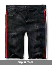 Big & Tall - Side Stripe Denim Shorts (B&T)-2488181