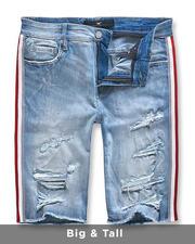 Big & Tall - Side Stripe Denim Shorts (B&T)-2488191