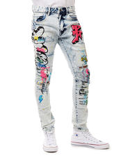 SMOKE RISE - Slim Graffiti Jean-2487764