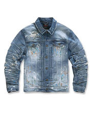 Going-Out-Outfits - Paint Splatter Denim Jacket-2486167