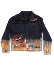 Denim Jackets - Two Tone Metal Stud Denim Jacket-2486739