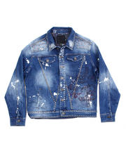 Denim Jackets - Tiger Denim Stud Jacket-2486752