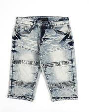 Boys - Moto Stretch Denim Shorts (8-18)-2487095