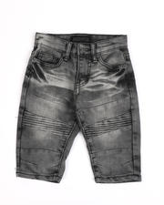 Arcade Styles - Moto Stretch Denim Shorts (4-7)-2487105