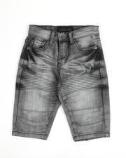 Arcade Styles - Moto Stretch Denim Shorts (4-7)-2487117