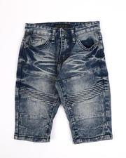 Boys - Moto Stretch Denim Shorts (4-7)-2487129