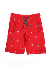 Boys - Allover Tropical Print French Terry Shorts (4-7)-2489521