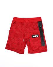 Boys - Hype Space Dye Fleece Shorts W/ Waxed Zipper (4-7)-2489539