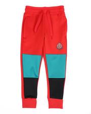 Activewear - Color Block Scuba Joggers W/ Crest Print (4-7)-2489577