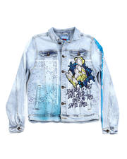 Denim Jackets - Gradation Print Denim Jacket-2486788