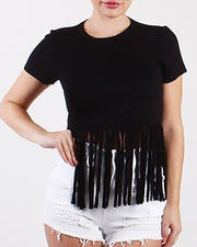 Red Fox - S/S Fringe Crop Tee-2478976