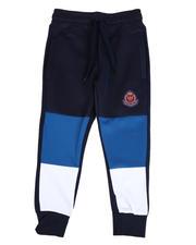 Activewear - Color Block Scuba Joggers W/ Crest Print (4-7)-2489567