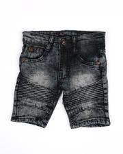 Boys - Washed Stretch Moto Denim Shorts (2T-4T)-2489727