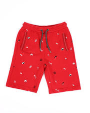 Boys - Allover Tropical Print French Terry Shorts (8-18)-2490314