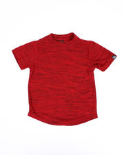 Arcade Styles - Melange Scoop Bottom T-Shirt (4-7)-2489641