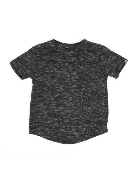 Arcade Styles - Melange Scoop Bottom T-Shirt (4-7)