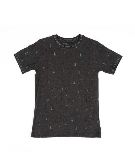 Arcade Styles - Allover Lighthouse Print Ringer T-Shirt (8-18)