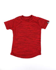 Arcade Styles - Melange Scoop Bottom T-Shirt (2T-4T)-2490525