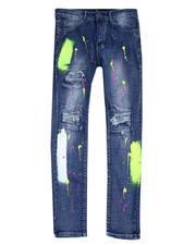 Buyers Picks - Neon Splatter Paint Blue Wash Jean-2483550