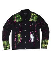 Buyers Picks - Neon Paint Splatter Denim Jacket-2483577