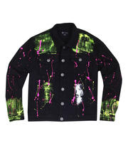 Buyers Picks - Neon Paint Splatter Denim Jacket-2483577