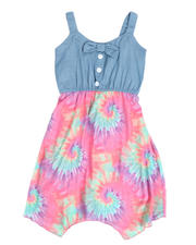 Dresses - Chambray Dress W/ Tie Dyed Woven Skirt (7-16)-2488390