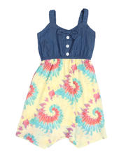 Dresses - Chambray Dress W/ Tie Dyed Woven Skirt (7-16)-2488398